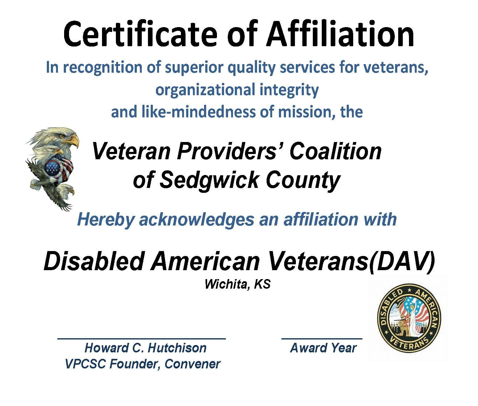 AFFILIATION - CERT. DAV 2015